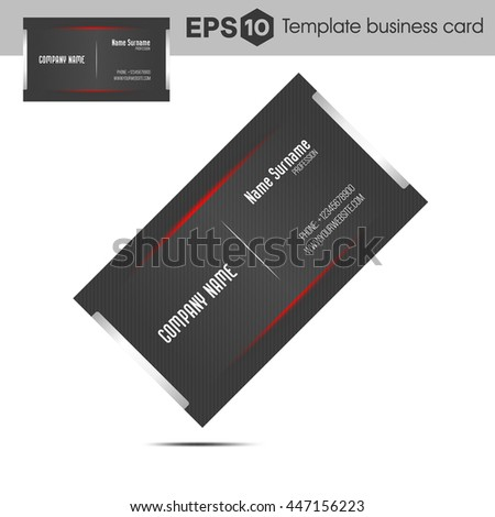Red template business card companies stock vector 447156223 red template business card companies colourmoves