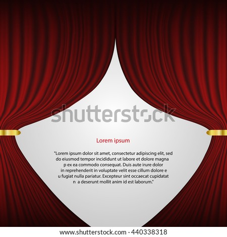 Red Theater Curtain Vector Background Eps 10