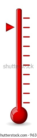 Red thermometer vector - stock vector