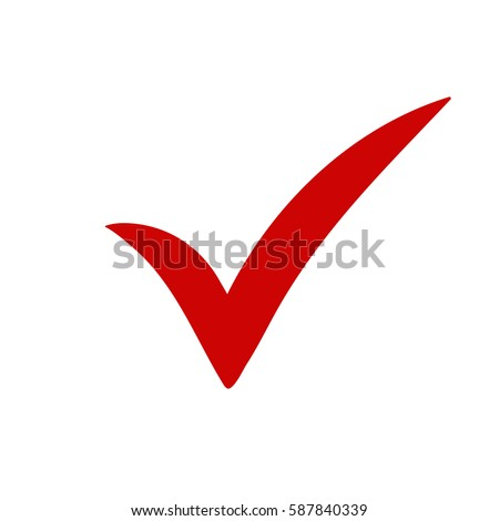 Red Tick Red Check Mark Tick Stock Vector 587840339 Shutterstock