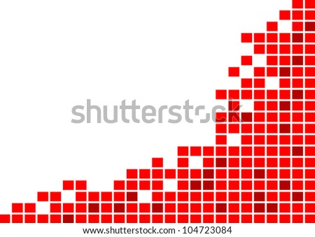 Red tile background - stock vector