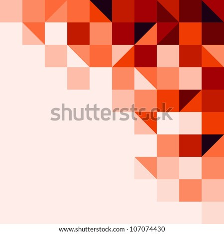 Red tiled background - stock vector