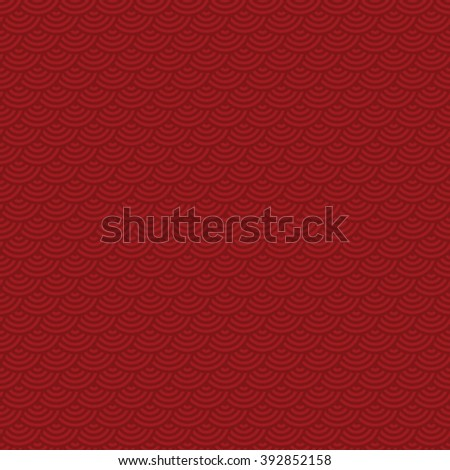 red tinted seamless fish scale pattern vector illustration