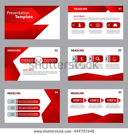 Red tone Multipurpose presentation template Infographic elements and icon flat design set for advertising marketing