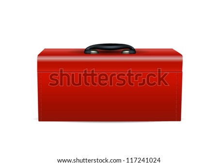 Red Tool Box on white background