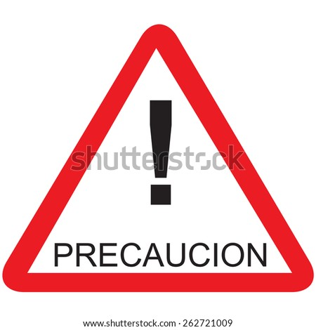 red triangle road sign spanish text stock photo photo vector rh shutterstock com logo red triangle with kangaroo red triangle logo name