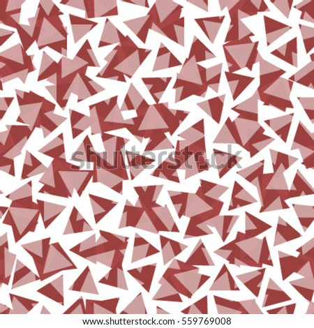 red triangles on transparent background seamless pattern