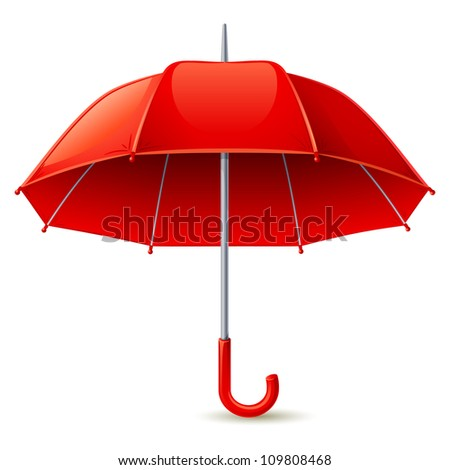Red umbrella - stock vector