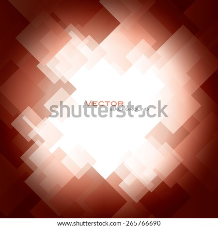 Red Vector Background with Shiny Squares. - stock vector