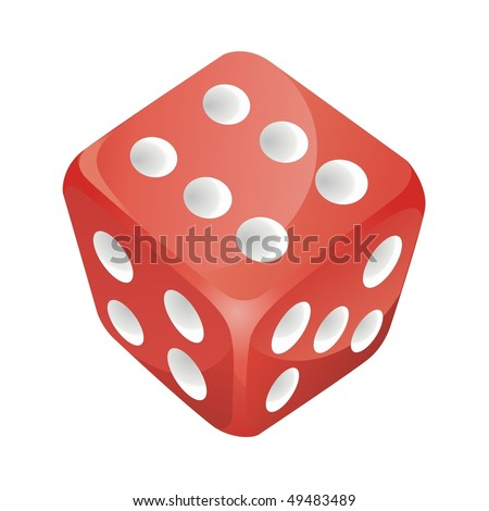 red vector dice - stock vector