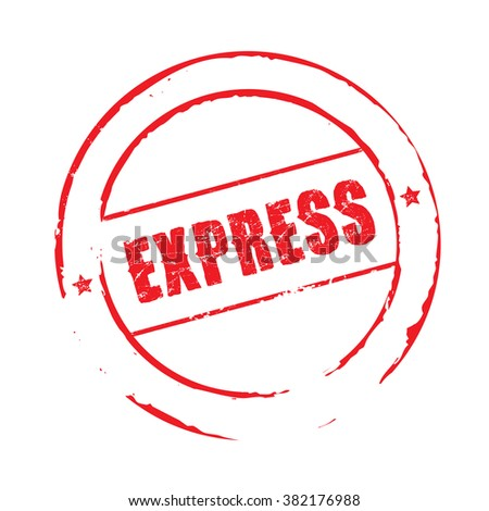 Red vector grunge stamp EXPRESS