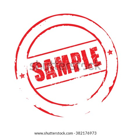 Red vector grunge stamp SAMPLE