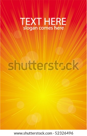 Red vector light burst, abstract background - stock vector