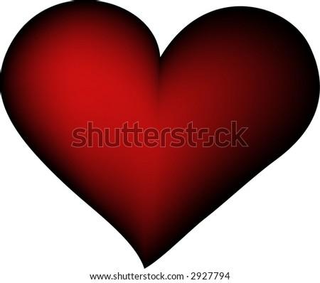 red vector retro heart - stock vector