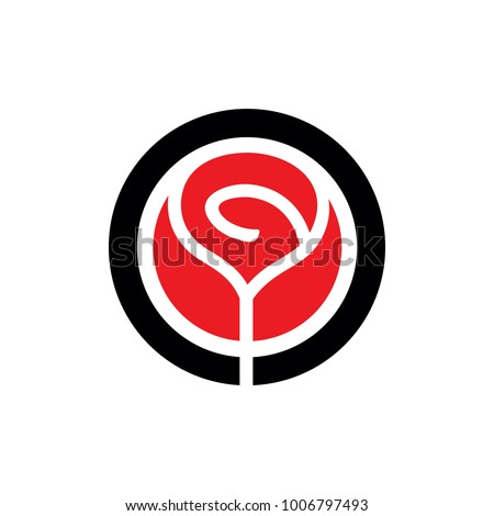 Rose logo stock images royalty free images vectors shutterstock red vector rose flower emblem simple rose logo template clean and simple logo template voltagebd Choice Image