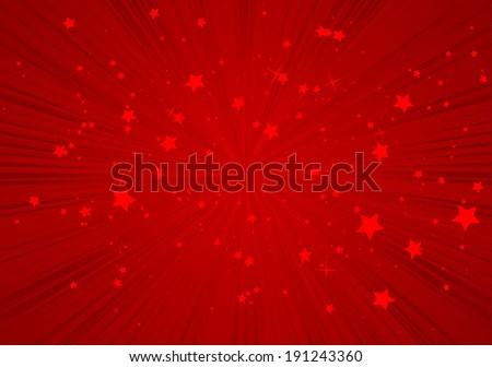 Red vector star burst background vivid illustration - Vector red   star blast  background  shiny template - stock vector