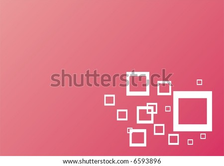 red vector texture with squares - stock vector