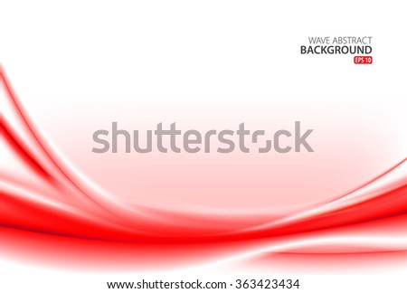 Red Wave Abstract Background - stock vector