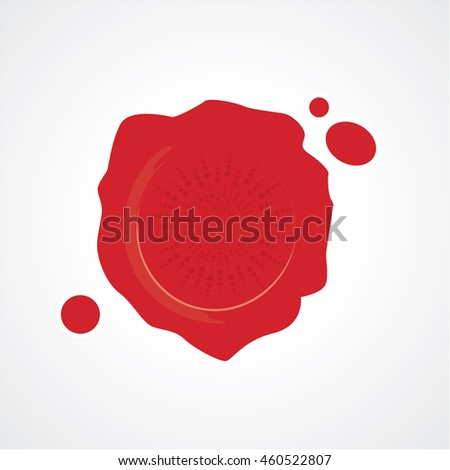 Red wax seal stamp. Silhouette templates for your design. rubber stamp and decorative elements. Logo and icon vector element.