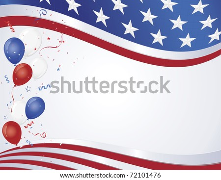 red white blue flag wave party stock vector 72101476 shutterstock. Black Bedroom Furniture Sets. Home Design Ideas