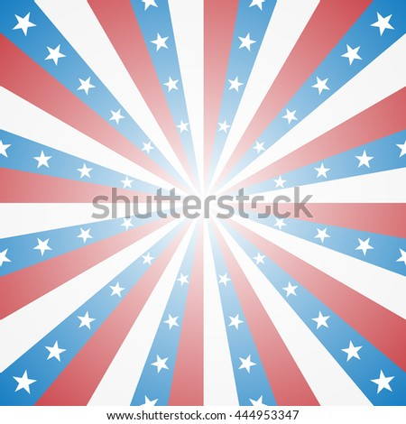Red white and blue stripes, Sunburst, Star Burst