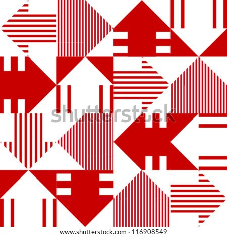 red & white arrow seamless pattern