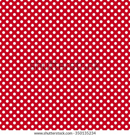 Polka dot seamless pattern stock vector 187783286 for Red and white polka dot pattern