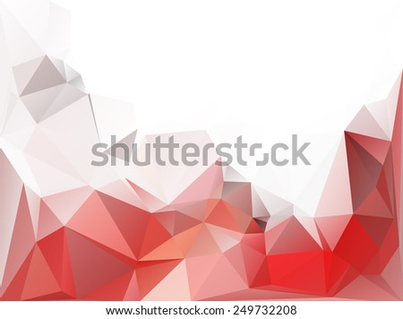 Red White Polygonal Mosaic Background, Vector illustration,  Creative  Business Design Templates - stock vector