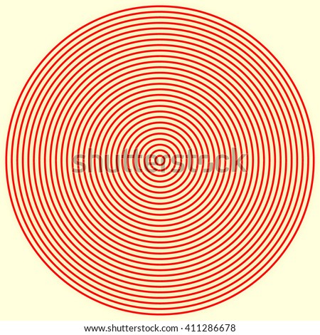 Red white round abstract vortex background. Hypnotic spiral wallpaper. Vector illustration - stock vector