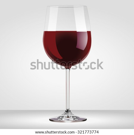 Red wine glass vectorial