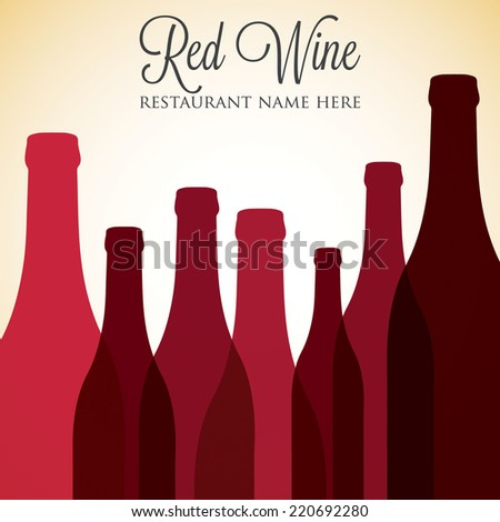 Red wine list menu cover in vector format. - stock vector