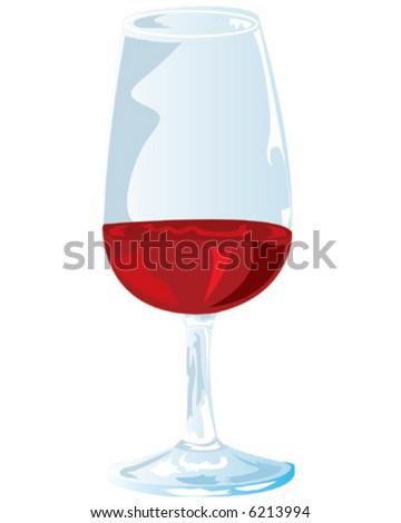 Red Wine Tasting Glass - stock vector