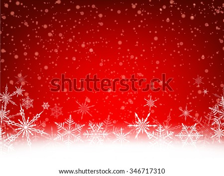 Red winter card with snowflakes. Vector paper illustration. - stock vector