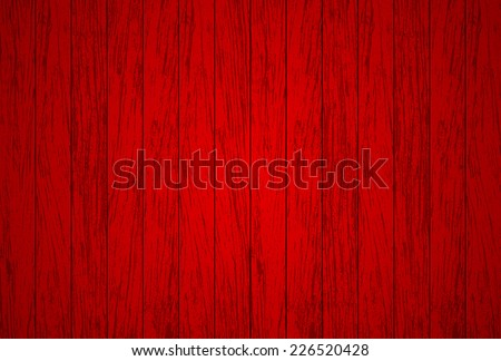 Red wood background - Vector - stock vector