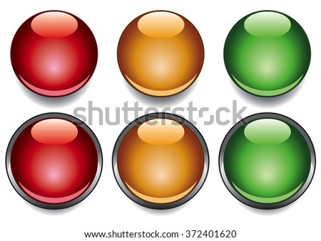 Red yellow and green colour aqua dots. - stock vector