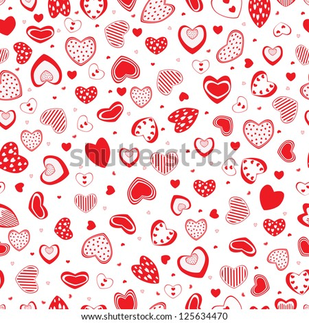 Reds heart on white background - stock vector