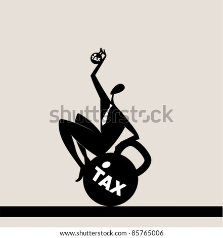 reduction of tax - stock vector