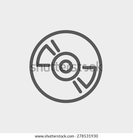 Reel tape deck player recorder icon thin line for web and mobile, modern minimalistic flat design. Vector dark grey icon on light grey background. - stock vector