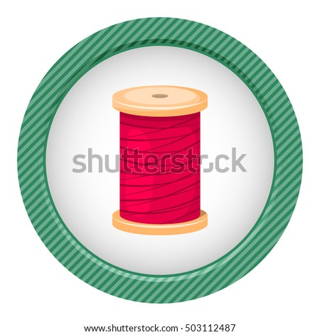 Reel with thread, vector illustration