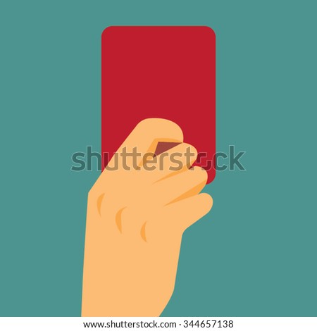 Referee hand showing red card