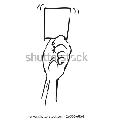 Referee Soccer Card Doodle - stock vector