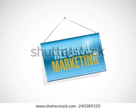referral marketing message banner illustration design over a white background - stock vector
