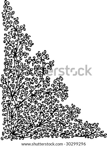 Refined vignette LXIII. Eau-forte illustration. - stock vector