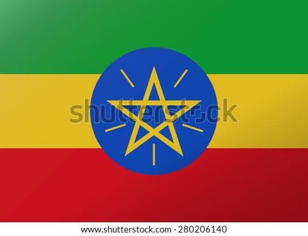 reflection flag ethiopia
