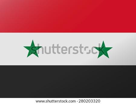 reflection flag syria - stock vector