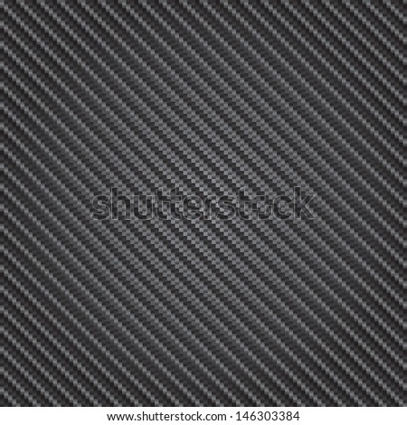 Reflective highly detailed illustration of a carbon fiber background in vector format. - stock vector
