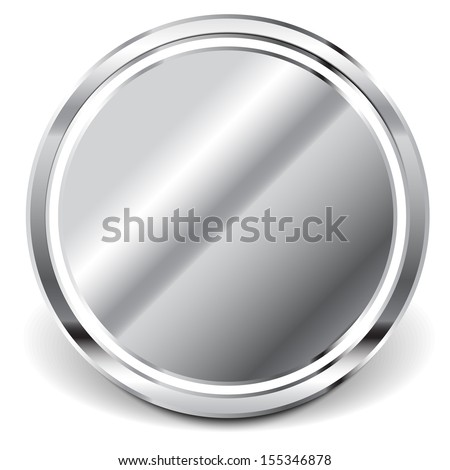 Reflective Metal Plate, Mirror - stock vector