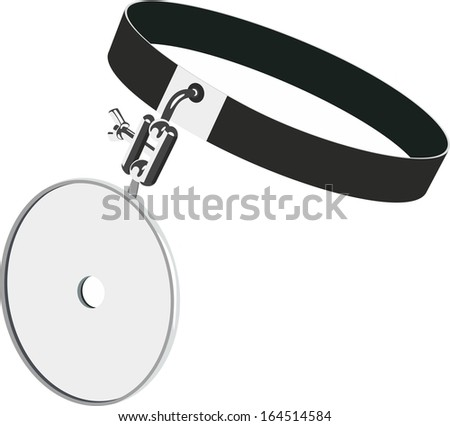 Reflector of the doctor - stock vector
