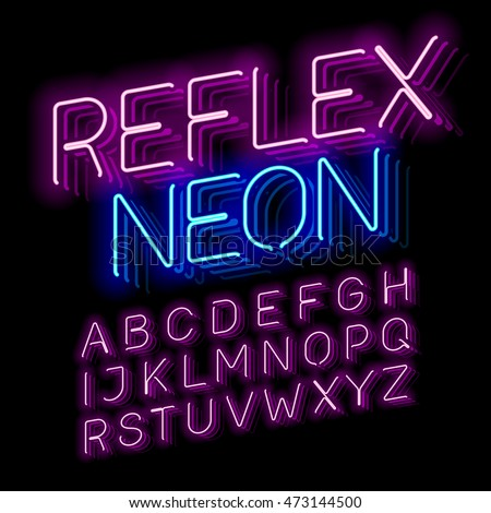 Reflex neon font vector illustration stock vector royalty free reflex neon font vector illustration thecheapjerseys Gallery