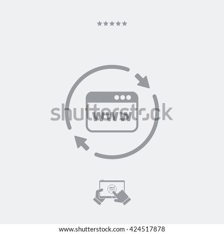 Refresh internet page icon - stock vector